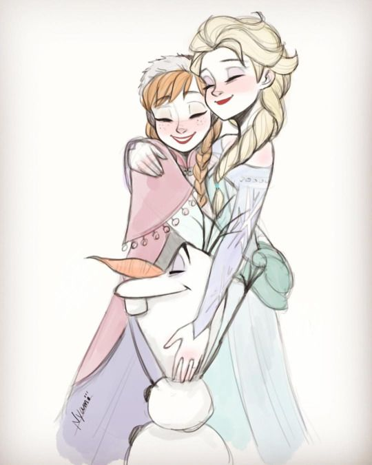 Anna, Olaf and Elsa - Frozen ❄️