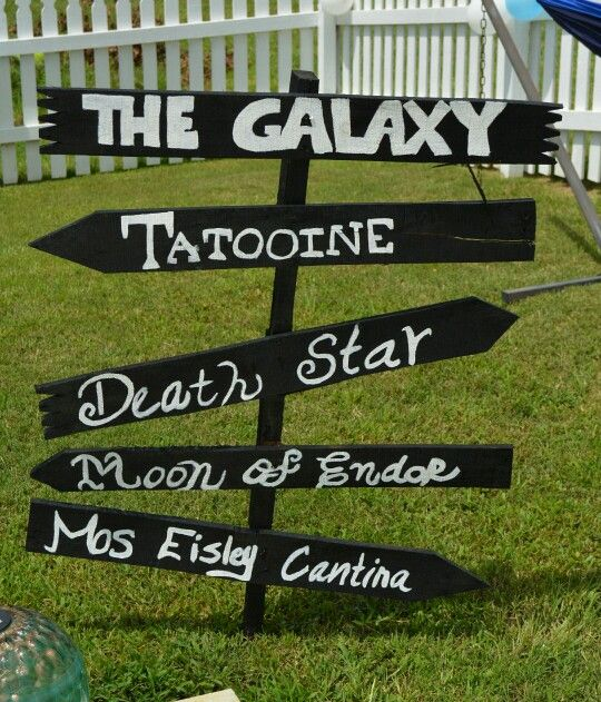 Star Wars Birthday Party Sign