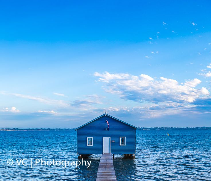 Blue House on Swan River, Perth
