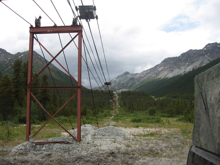 Abandoned asbestos ore tram, Cassiar BC 2008 - Not even 3rd world countries will buy this stuff from us any more.