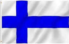 Finland Flag 3 x 5 Brand NEW Polyester 3×5 Banner …