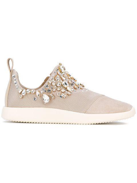 Shop Giuseppe Zanotti Design Gemma slip-on sneakers.