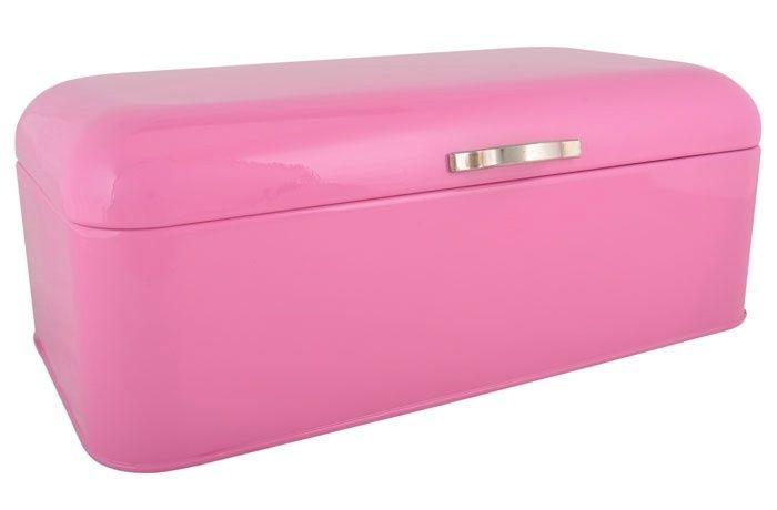Metallinen leipälaatikko, pinkki - Emma's & Mama's shop