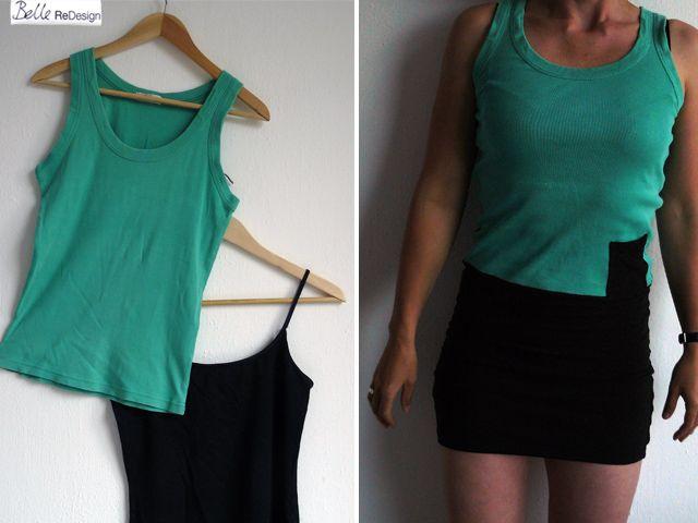 Maak een simpel zomerjurkje van 2 oude t-shirts of hemdjes! DIY niveau: beginner.