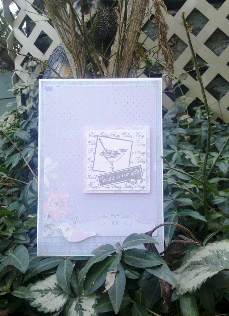 Today Is For You birthday card feminine spring bird