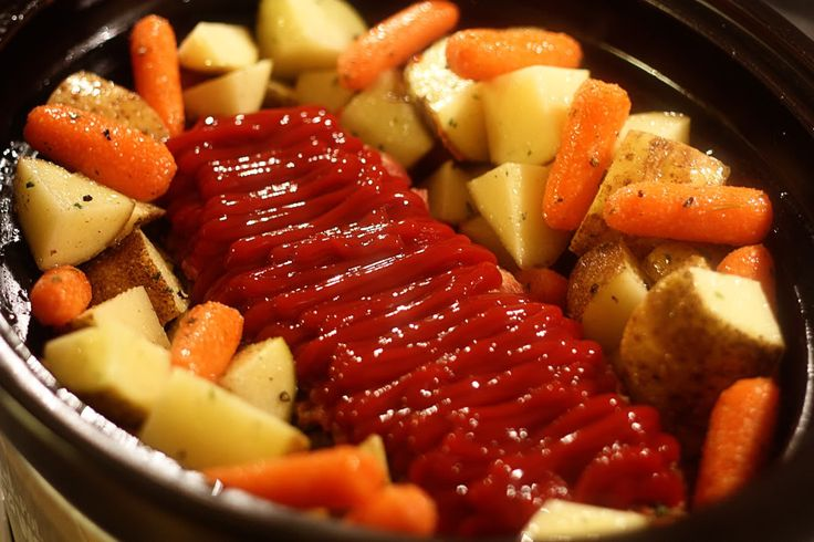 Crockpot/slow cooker meatloaf.  I have my own recipe, but still a good idea to try this in a slow cooker.  I wonder if this is also an idea for a freeze & then cook meal?