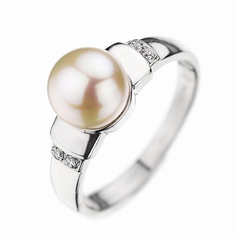 #Bijuterii cu perle Inel de logodna cu diamant CORIOLAN DR166