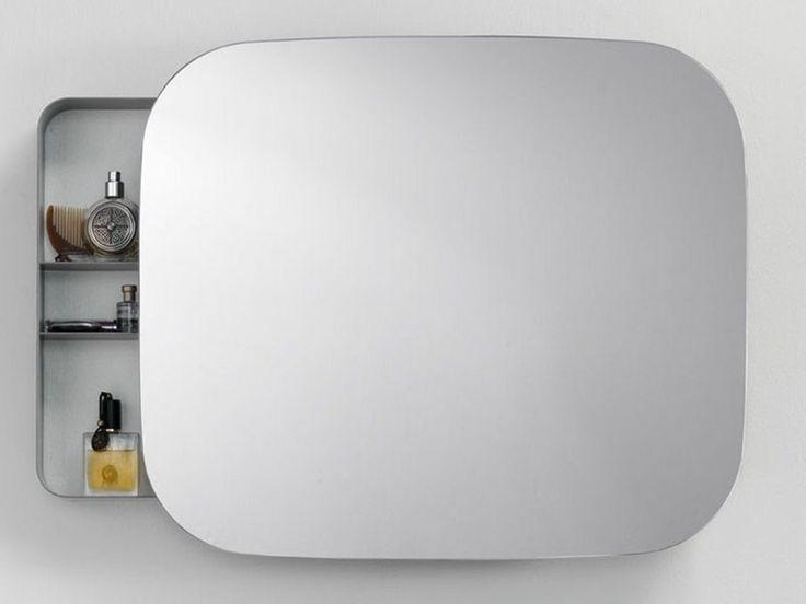 specchio con contenitore per bagno ray mirror collezione ray by ext design michael