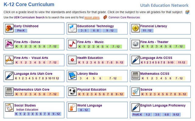 Utah. Free Common Core Aligned Lessons and Web 2.0 Games to Play on your SMART Board!