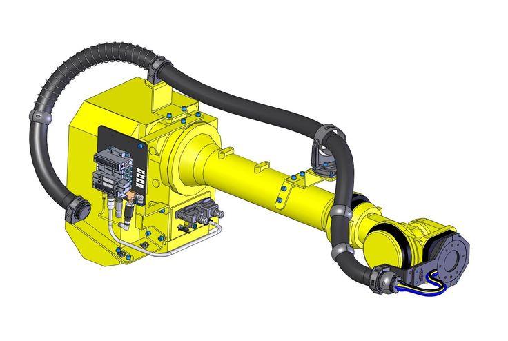 Cabos e Conectores Eletricos Especiais, Tubos de Proteção/Organização, Garras, Trocadores de ferramenta e Pulso Mecânico para Robótica Industrial e mais...