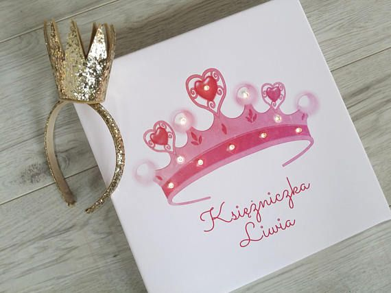 Check out this item in my Etsy shop https://www.etsy.com/listing/567338789/pink-princess-crown-print-with-led
