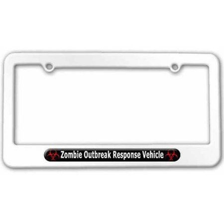 Response Vehicle Zombie Outbreak Novelty Metal License Plate Tag