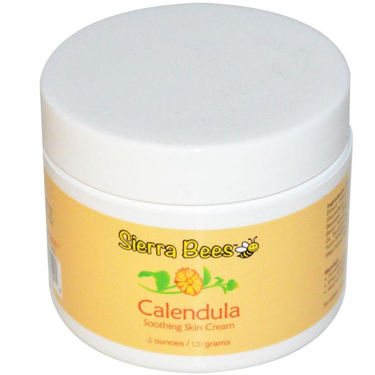Sierra Bees, Успокаивающий крем с календулой и мёдом Манука, 4 унции (120 г.)