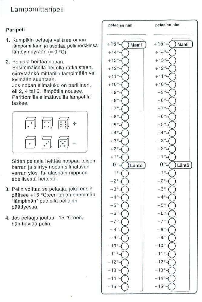Lämpömittaripeli (4.lk).