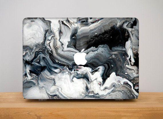 pinterest || ☽ @kellylovesosa ☾   Marble Macbook Pro 13 Case Laptop Hard Case by PinkPiggyStudio