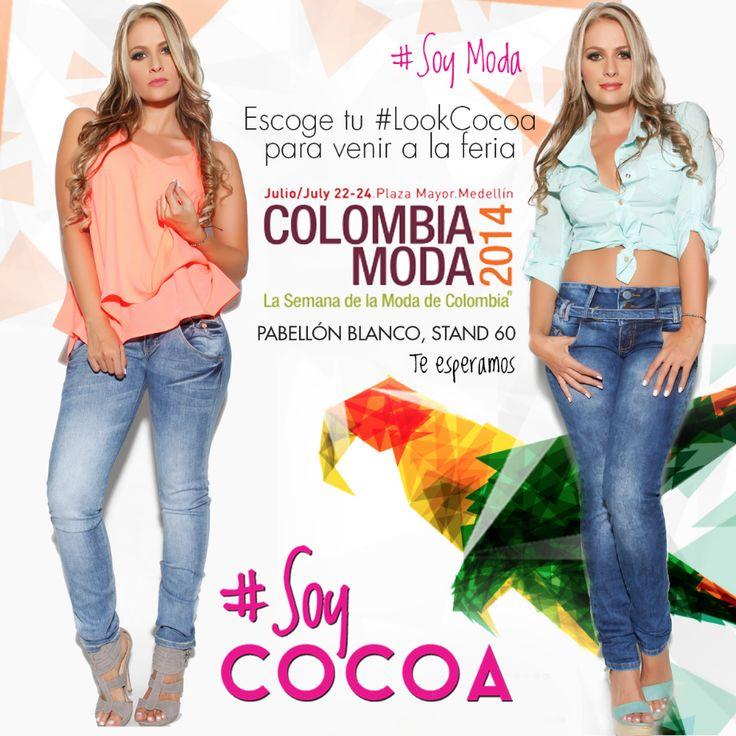 Ven a #colombiamoda con tu mejor pinta #CocoaJeans #soymoda #soycocoa