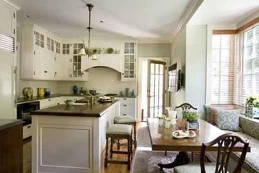 Colonial style homes, Wood kitchen cabinets and Colonial on Pinterest