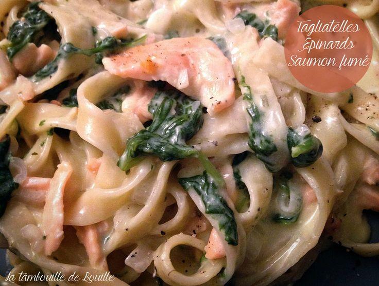 One-pot-pasta : tagliatelles, saumon fumé et épinards