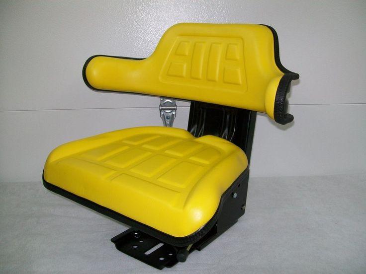 SUSPENSION SEAT JOHN DEERE TRACTOR YELLOW 1020,1530,2020,2030,2040,2155, JD #IE