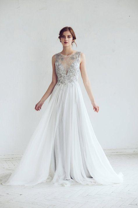 Silver Gray Wedding Dress - Chic Vintage Brides : Chic Vintage Brides