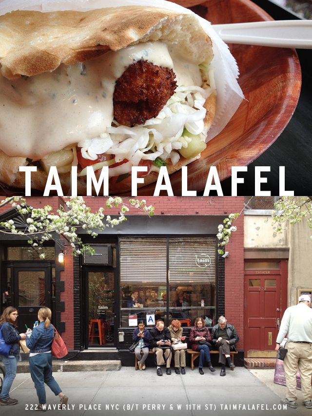 The Falafel Sandwich from Taim Falafel & Smoothie Bar in New York City  | Snack Fixation