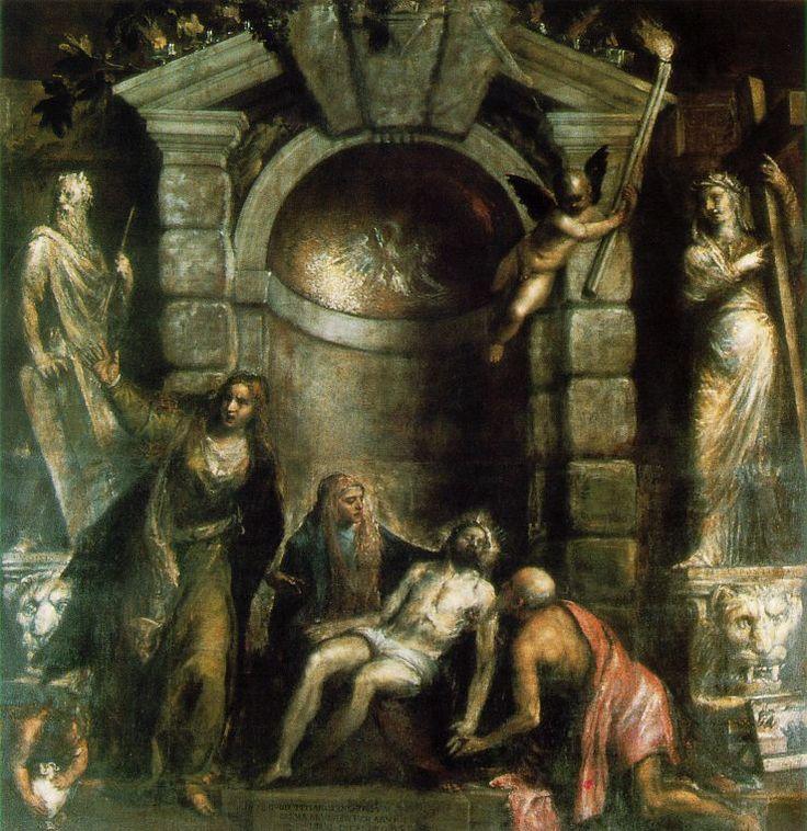 Pietà Autore:Tiziano Data:1575-1576 Dove:Galleria Dell'Accademia Venezia