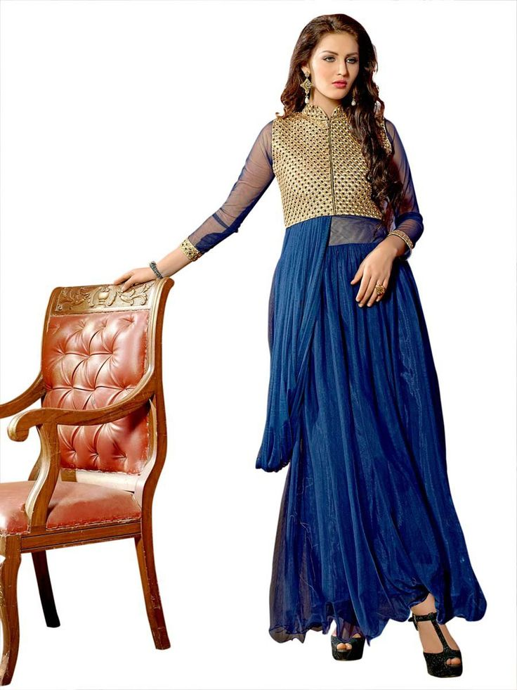 Dazzle and excite with this truly gorgeous outfit.  Item Code: GANA1004V  http://www.bharatplaza.com/new-arrivals/gowns.html