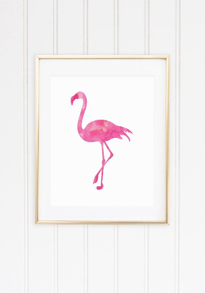 Flamingo Art Print, Cute Office Decor, Pink Home Decor, Gifts for Her, Watercolor, Watercolour, Home Decor by Studio5565 on Etsy https://www.etsy.com/listing/247465441/flamingo-art-print-cute-office-decor
