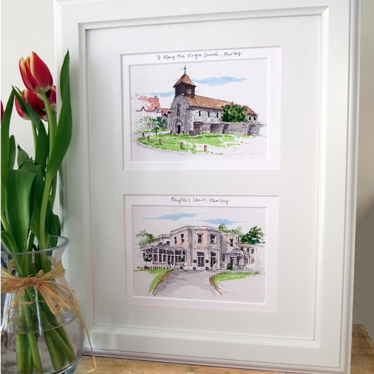 House+or+Wedding+Venue+Multiple+Hand+Drawn+Illustrations, £130.00