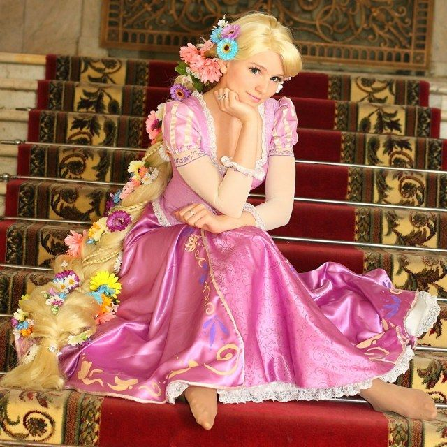 Considering being a Disney princess for Halloween instead of Gaga. Rapunzel perhaps? I've got the green eyes...