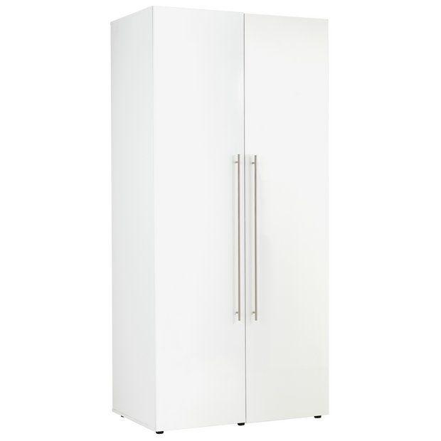 Buy Hygena Atlas 2 Door Wardrobe - White Gloss at Argos.co.uk - Your Online Shop for Wardrobes, Bedroom furniture, Home and garden.