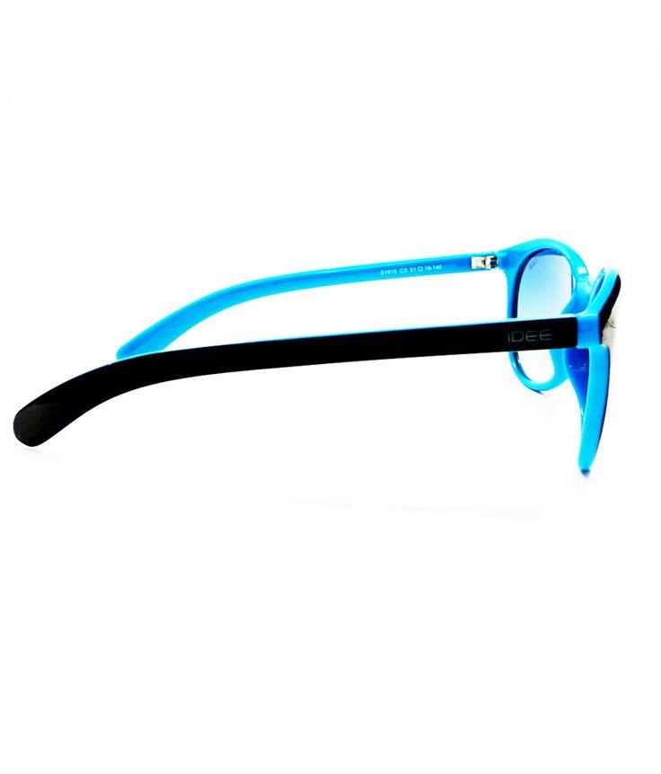 Idee Sky And Black Round Sunglasses