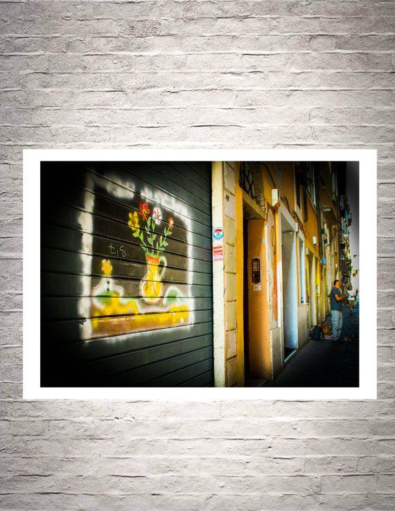 Italian Fine Art Note CardStreet Art Urban Art by BelmondoVintage