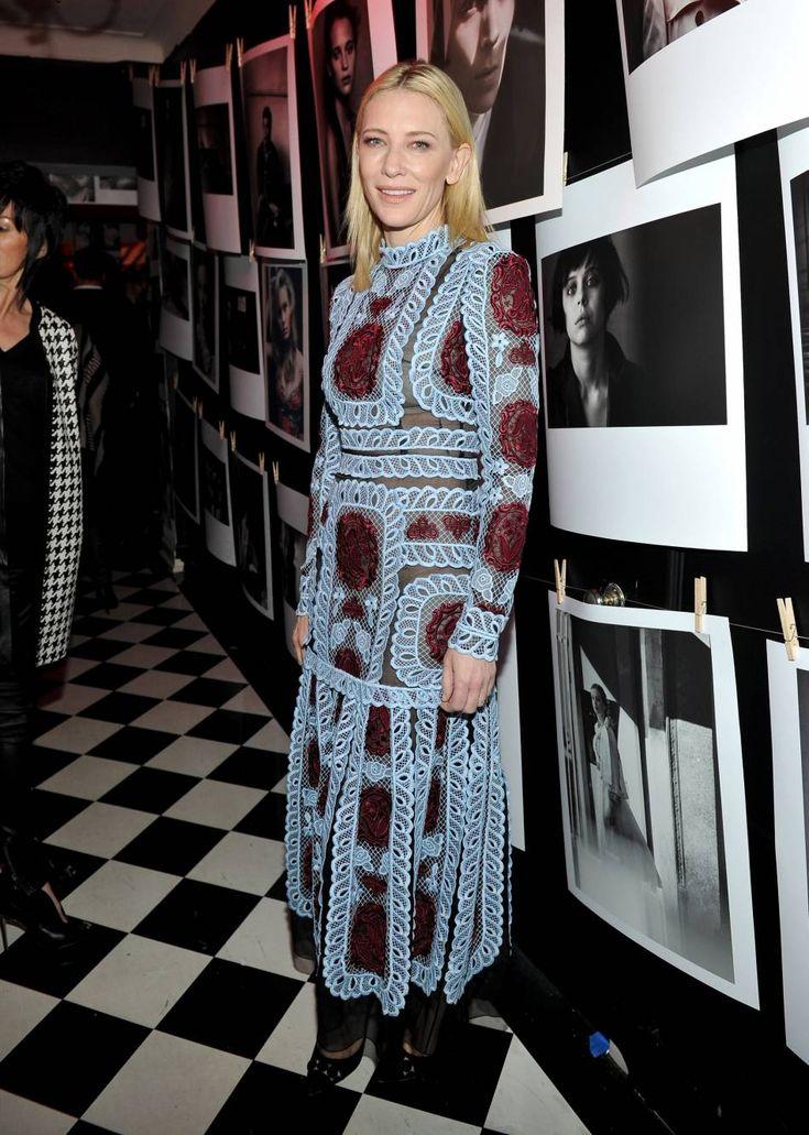"""Cate Blanchett lors de la soirée """"Best Performances' Portfolio"""" de W Magazine en amont des Golden Globes le 7 janvier 2016 à Los Angeles."""