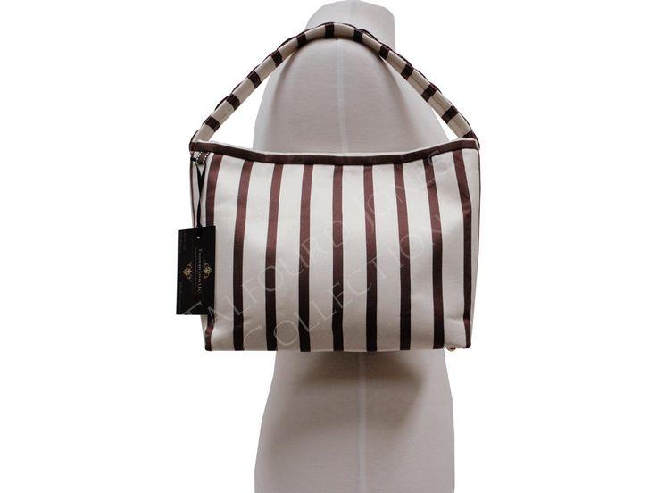 Handmade Purse - Women's Handbag - Striped Purse - Slim Purse - Handheld Purse - Stripe Shoulder Bag - Unique Gifts for Women by TalfourdJones on Etsy
