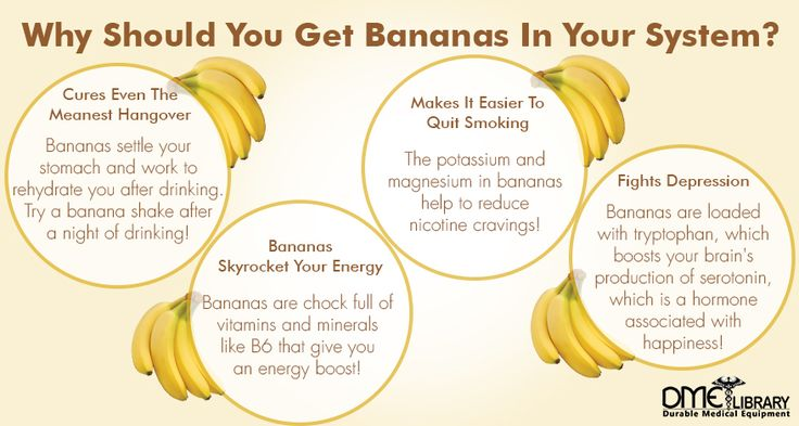"If you're a little ""backed up"" bananas can provide the relief you're looking for. Bananas are great for your stomach and intestines and help normalize your stomach functions."