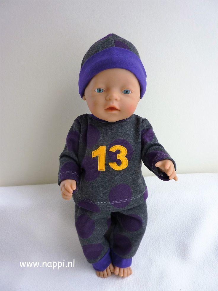 Jongenskleding / Baby Born 43 cm | Nappi.nl Stoer joggingpak, eigen ontwerp