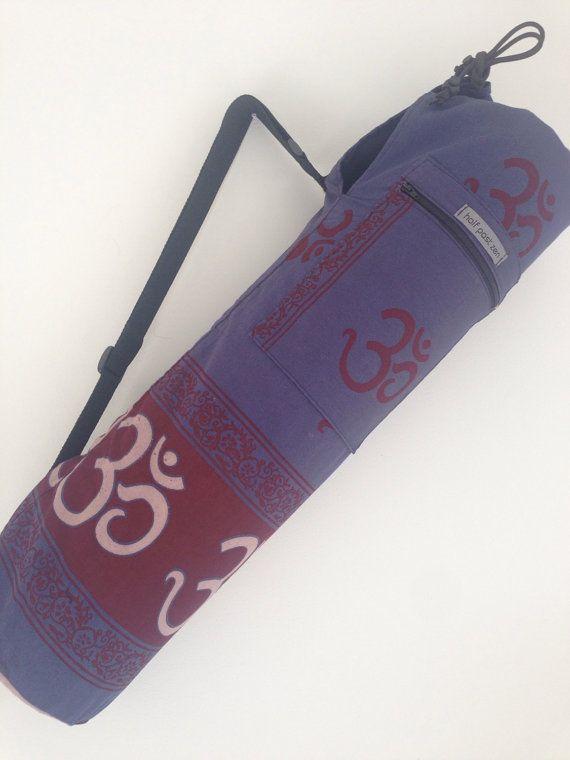 Yoga Mat Bag  OM symbol Indian Yoga Bag by halfpastzen on Etsy