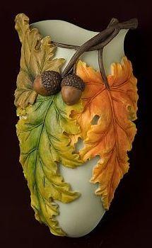 Fall Leaves Wall Vase/Wall Pocket