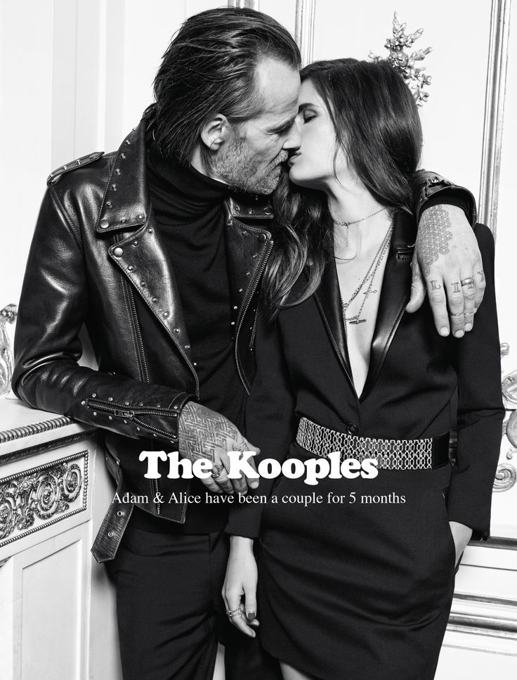 Alice & Adam for The Kooples FW13 #thekooples #campaign I'd wear the dress and the jacket together!