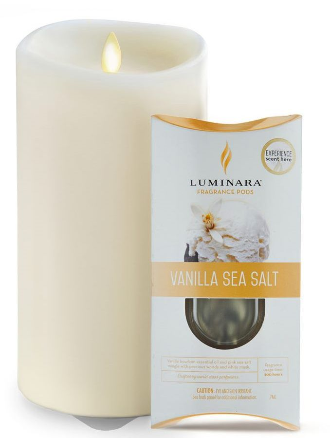 "3.75"" x 7"" Ivory Fragrance Diffusing Luminara Candle"