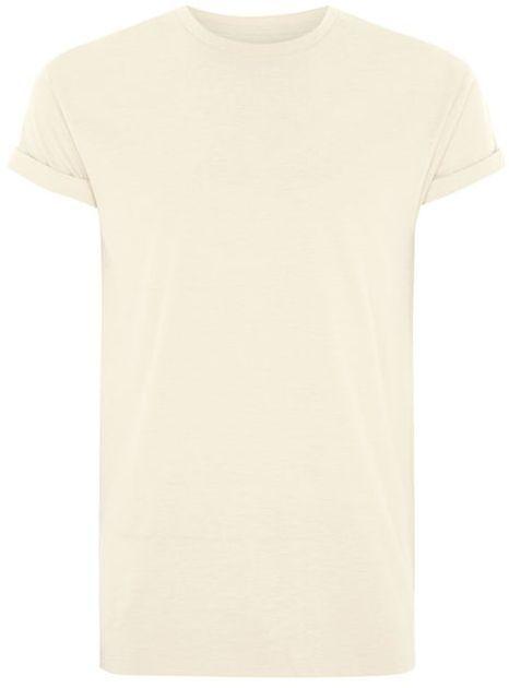 Topman Off White Linen-Look Muscle Roller T-Shirt