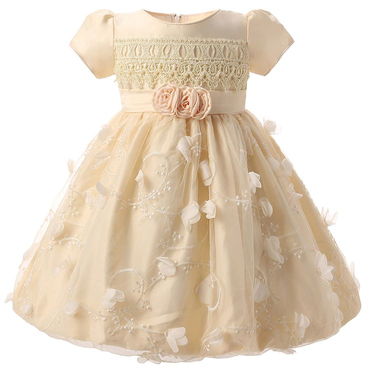 Barato Flor Meninas Vestidos Para Festa De Casamento Bebês Infantil Criança Rendas de Croché vestido de Baptizado Outfits Da Menina Da Criança 1 Ano de Aniversário, Compro Qualidade Vestidos diretamente de fornecedores da China: