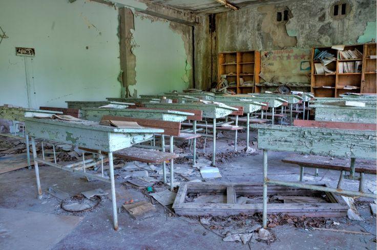 Escuela abandonada en Prípiat