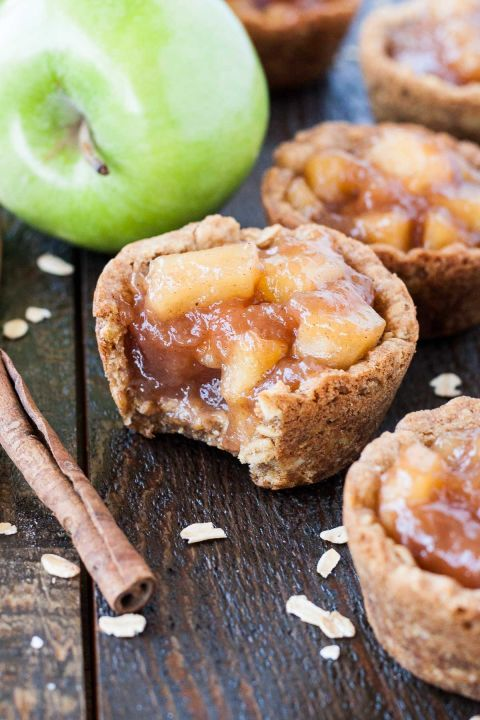 Classic oatmeal cookies taste so much better when they're filled with apple pie filling.