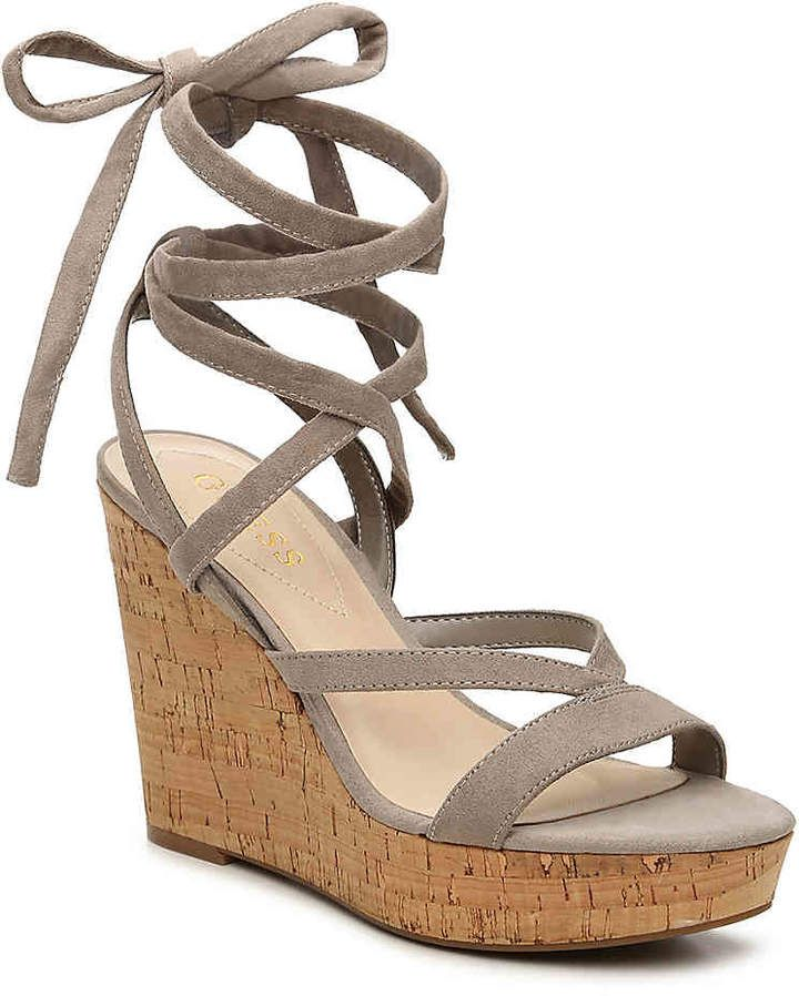 b6512a3a3032 Guess Treacy Wedge Sandal - Super Cute wedges  wedges  dsw  ad  shoes   womensshoes  shoesaddict  shoelover