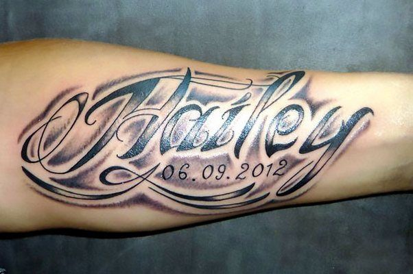 Name On Arm Tattoo Idea Name Tattoo Designs Tattoo Designs Men