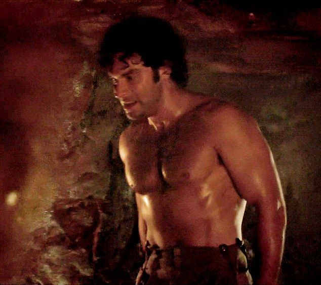 This series of Poldark features plenty of shots of topless hunks with Aidan Turner (pictured) and now his friend Dr Enys (Luke Norris) stripping off in tonight's episode