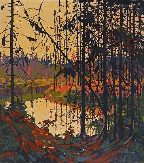 "Thomas John Thompson (Canadian, 1877-1917). ""Northern River"" 1914-15"