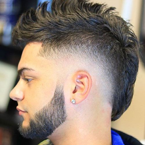Mohawk Fade Haircuts Mohawk Hairstyles Men Mullet